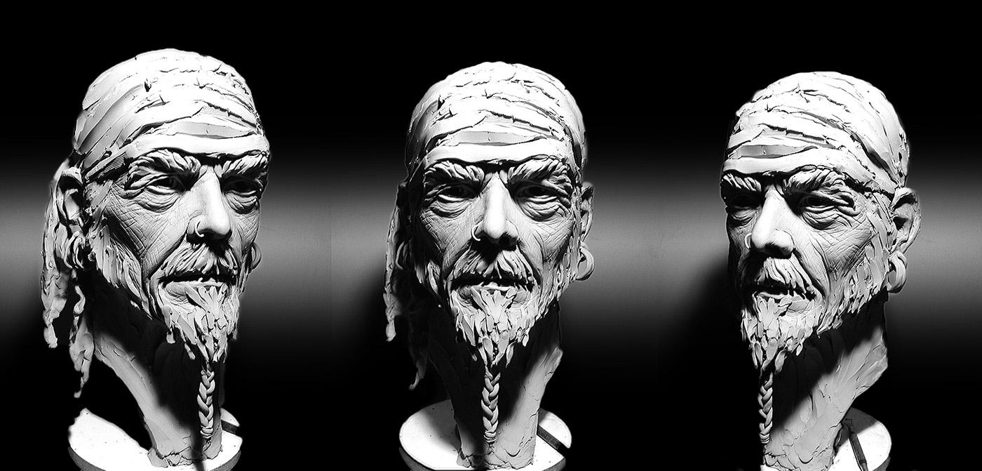Sculpture in Plasticine on Behance  Plasticine Sculpture