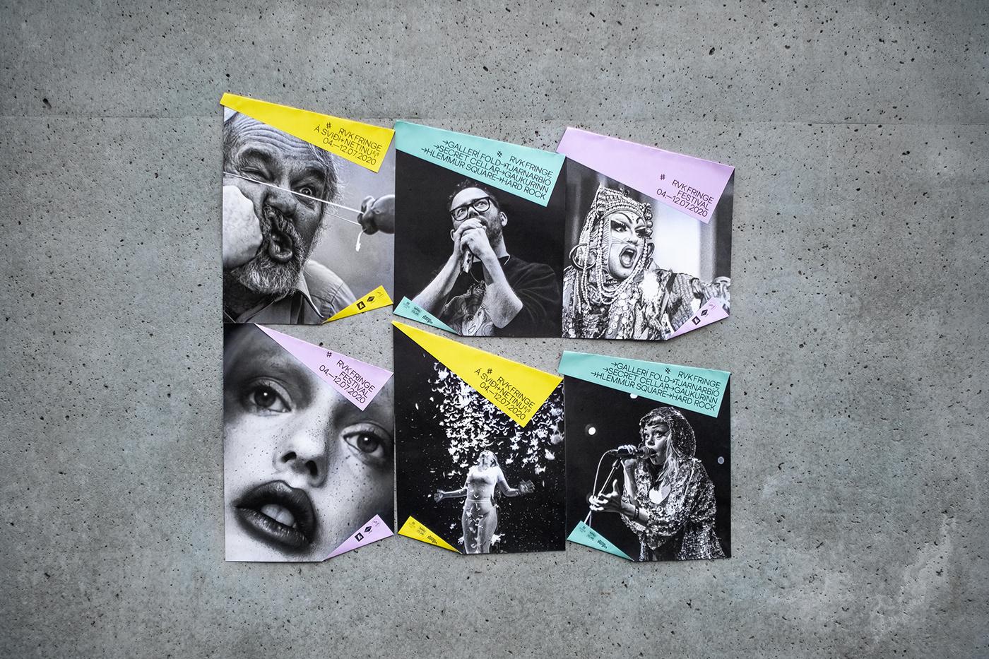 folded Fringe fringe reykjavík posters Reykjavik