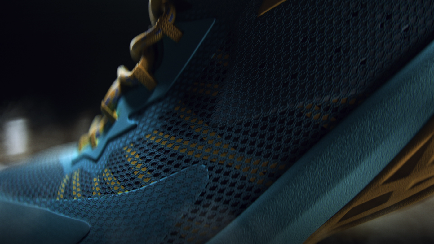sneakers 3D commercial NBA basketball