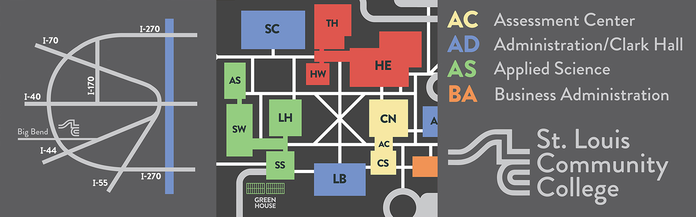 Kirkwood Community College Campus Map.Stlcc Meramec Campus Map Redesign On Behance