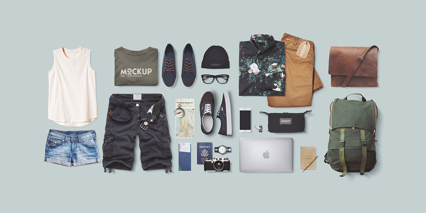 travel mock-up apparel mock-up download psd freebie photoshop Mockup showcase Maqueta