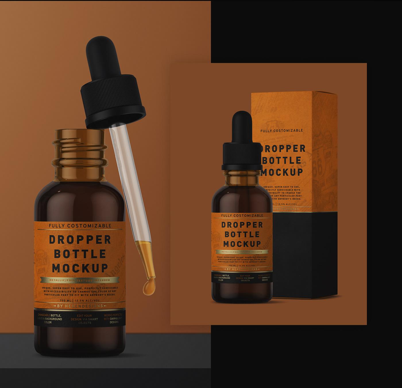 Download Dropper Bottle Mockup + Free Version on Behance Free Mockups