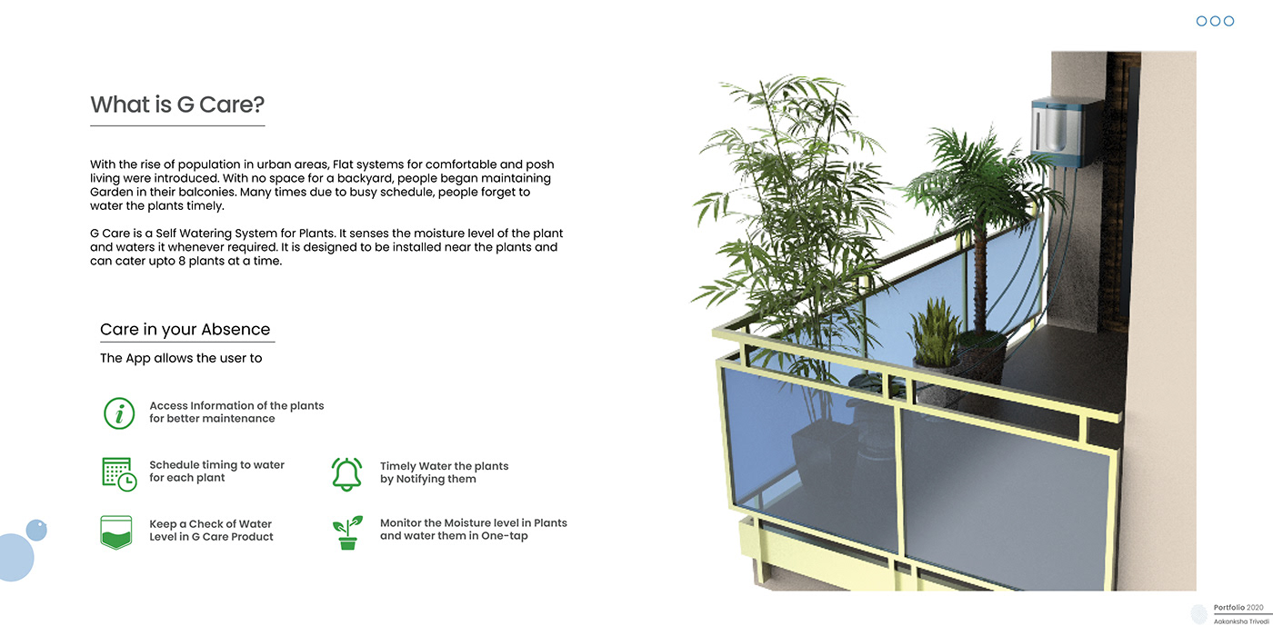 IoT plant care selfwatering system uiux product interaction User Experience Design