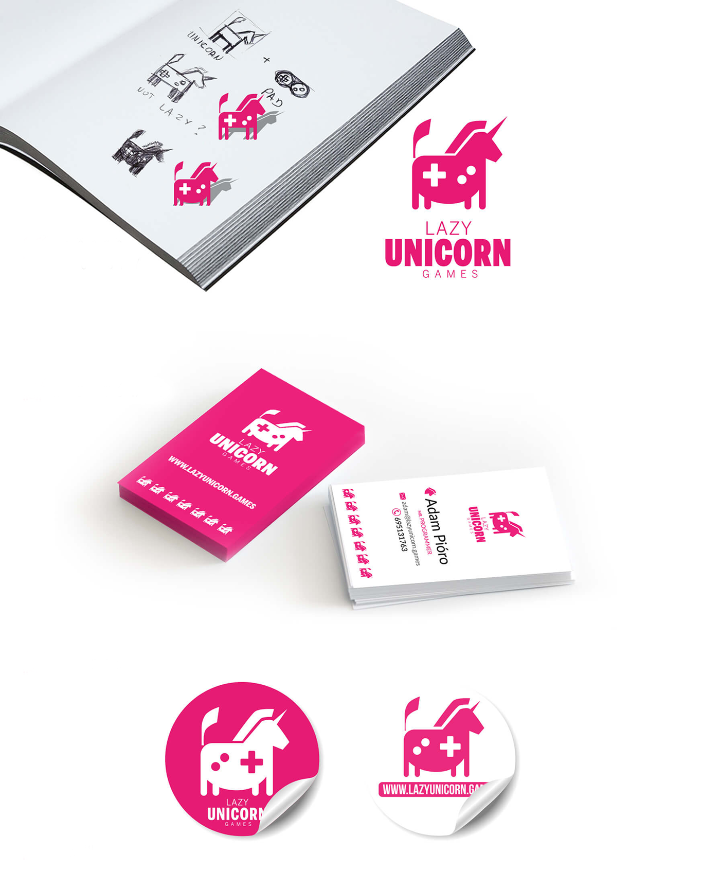 logo horse animal drone game unicorn brand identity jingle