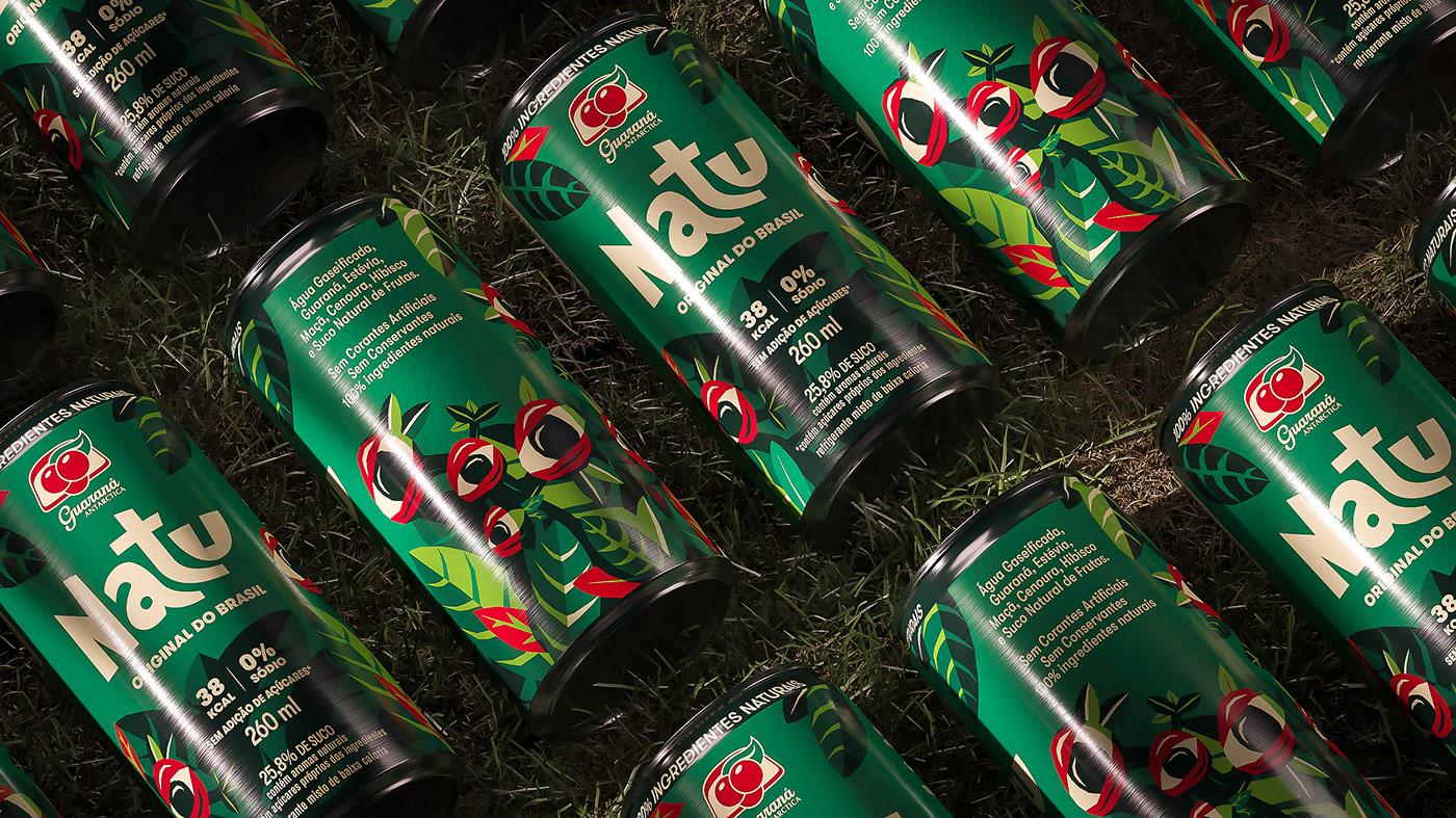 branding  can drink embalagem guarana ILLUSTRATION  package Packaging refrigerante soda