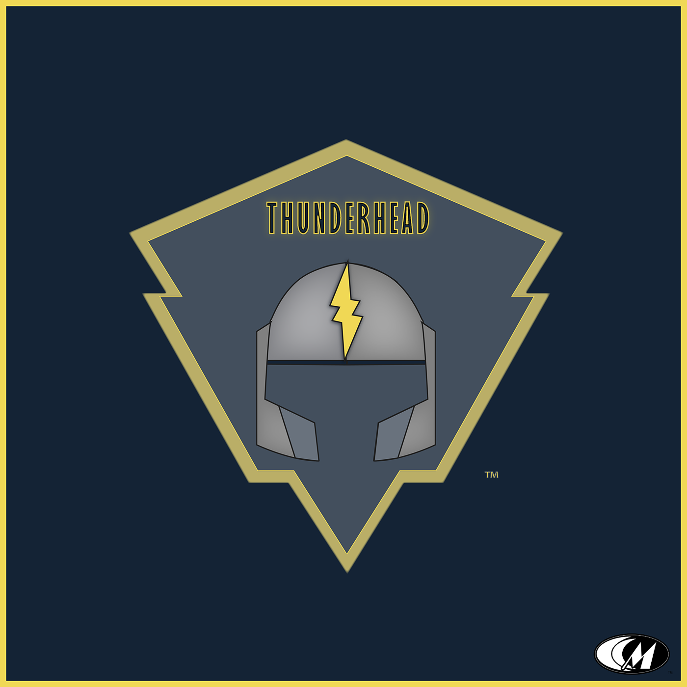 thunderhead logo badge vector ILLUSTRATION  lightening bolt branding  Illustrator Helmet