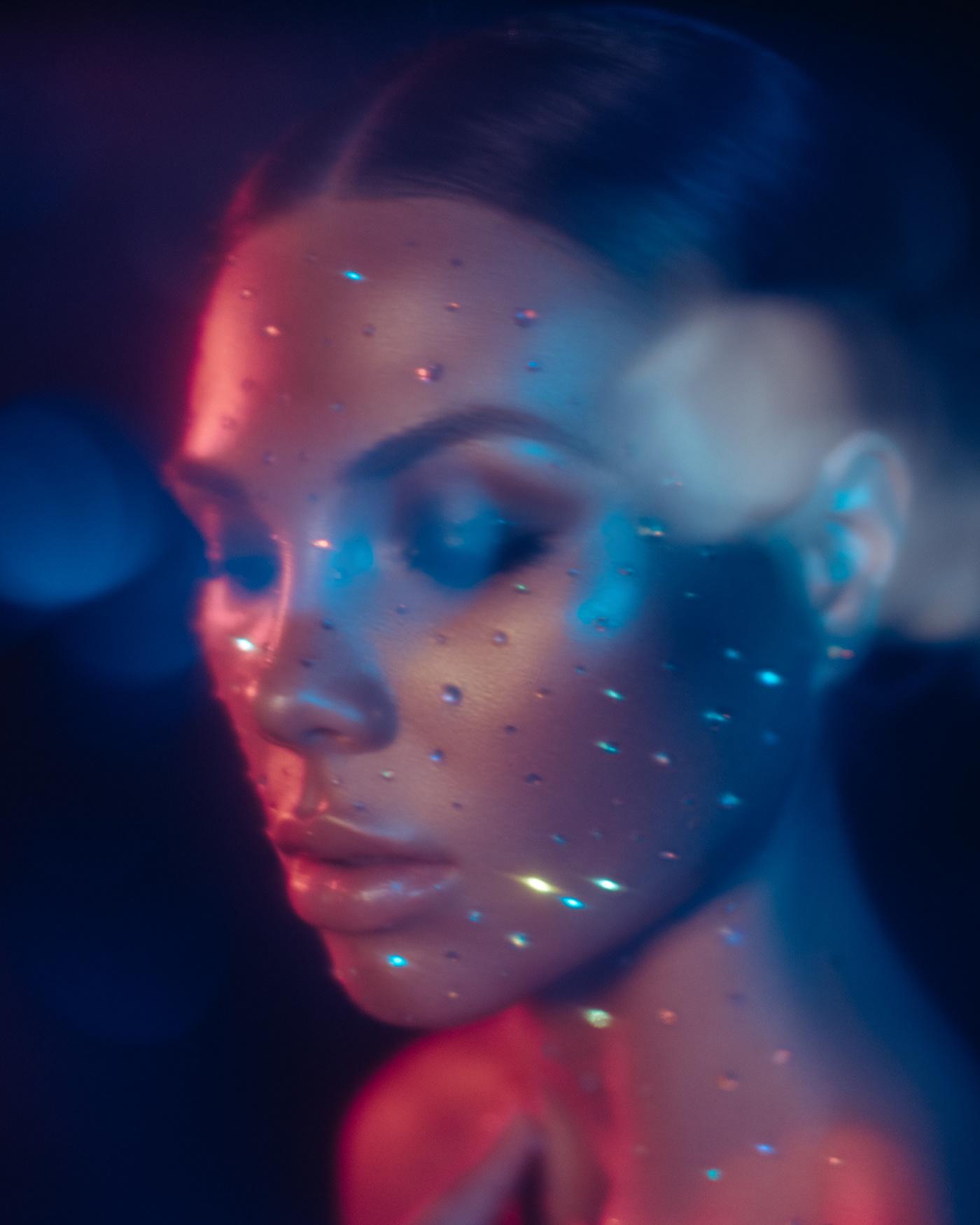 beauty portrait editorial Fashion  retouch beauty photography beauty retouch beauty editorial neon makeup