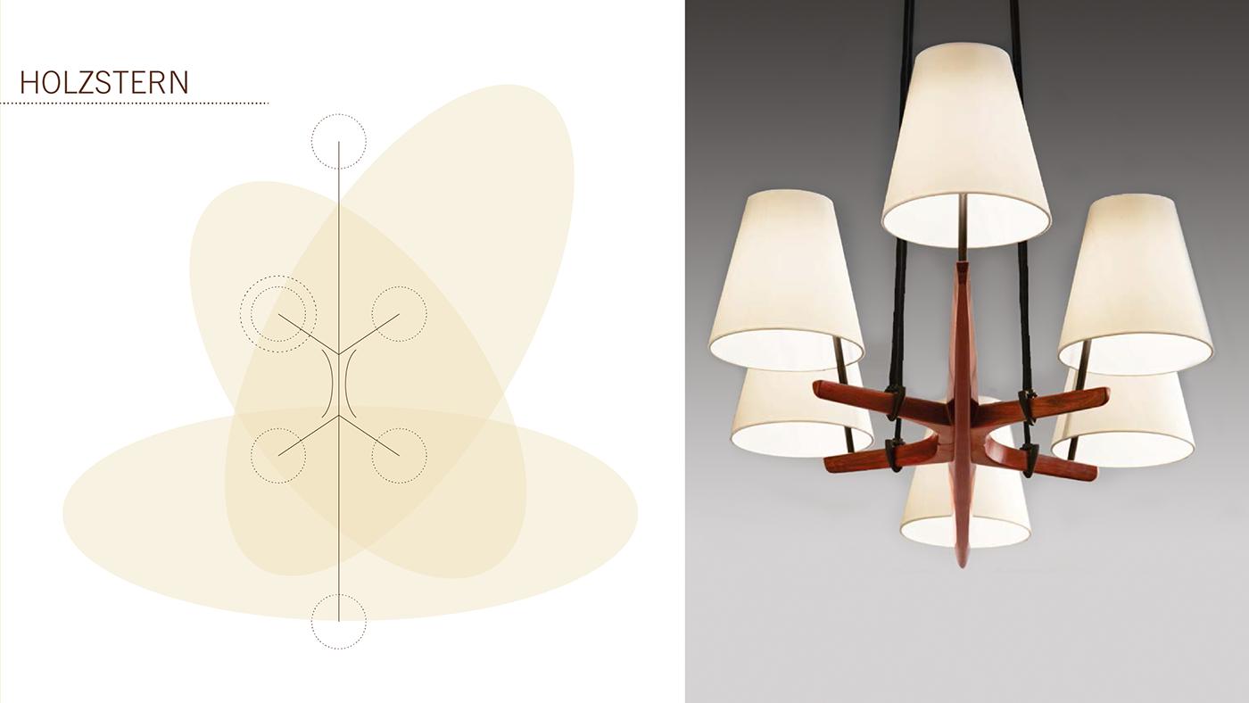 art-deco vintage lamps Interior modern historic Classic 50's furniture