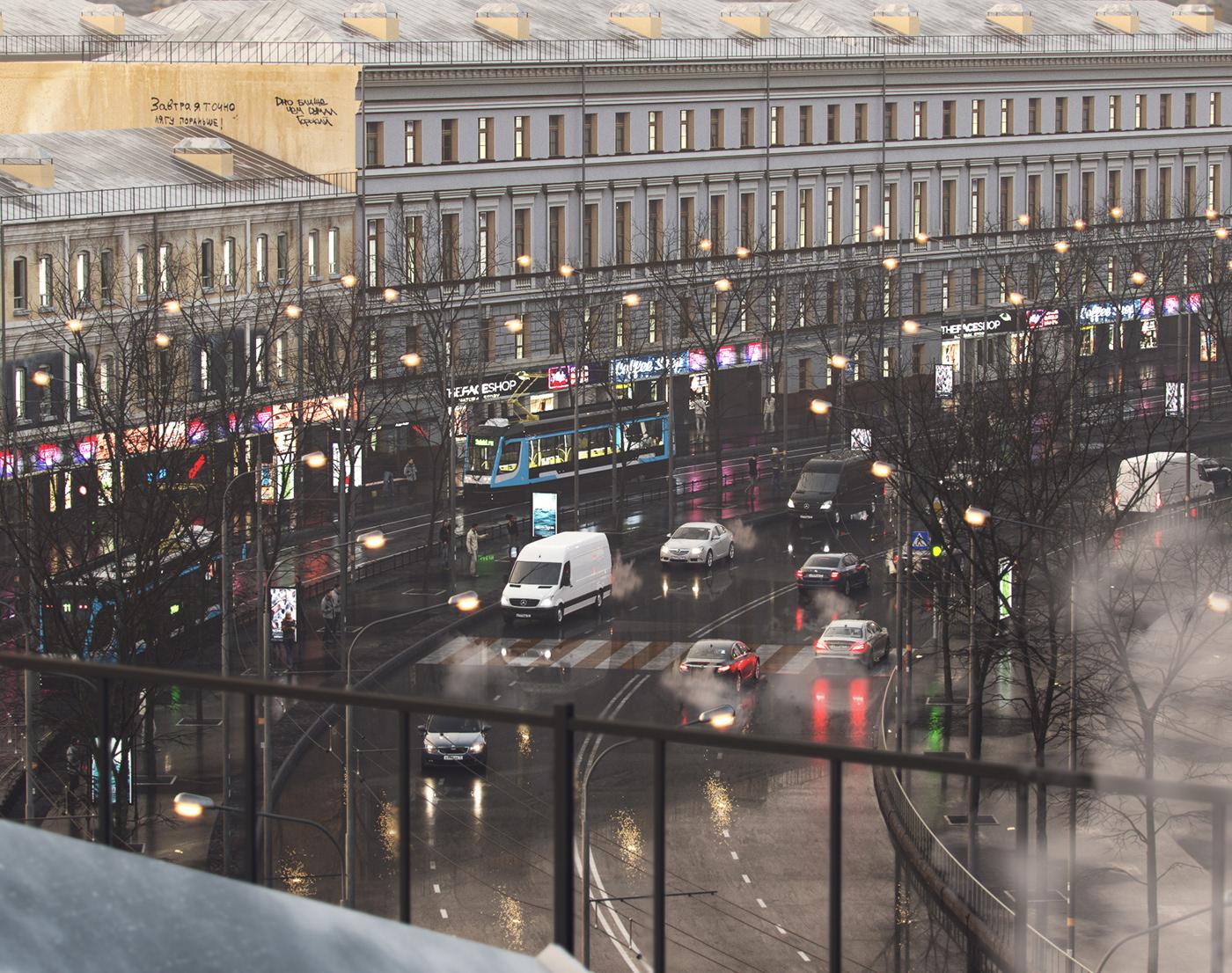 Image may contain: city, vehicle and car