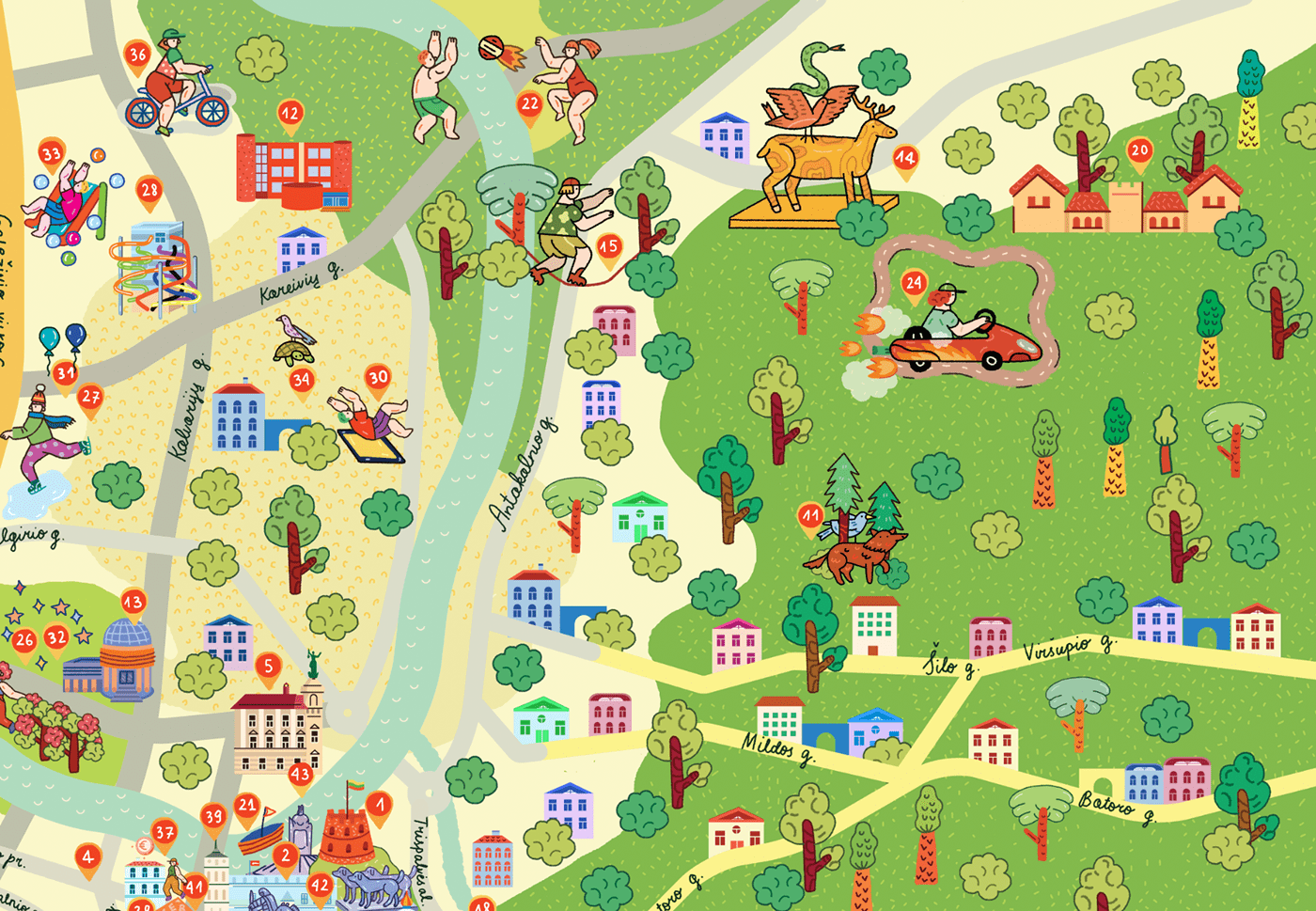 map children illustrated map city kids map editorial educational map capital map