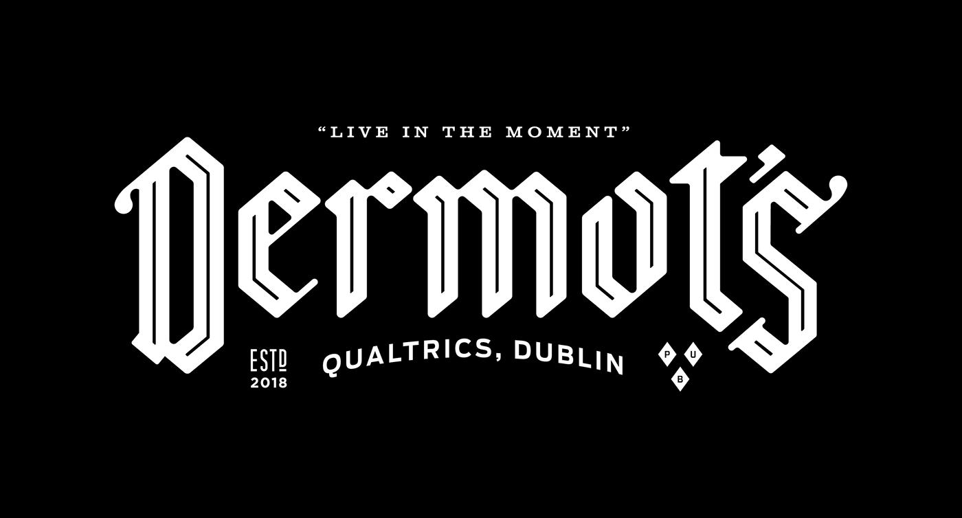pub branding  dublin beer bar qualtrics design Europe Ireland typography