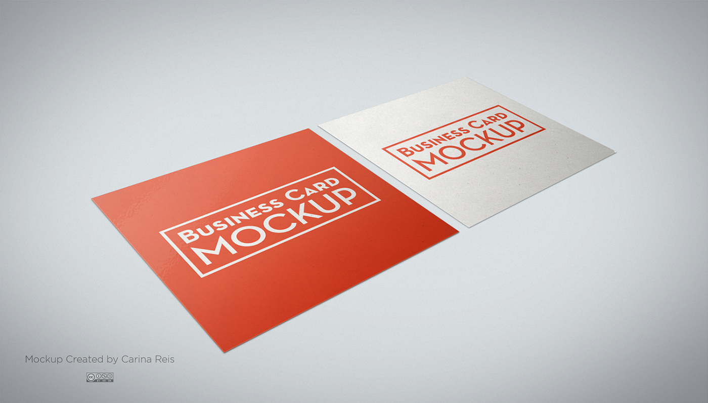 Free square business card mockup on behance updates added a new file with round corner background has now perspective add a texture gradient or a color also modified the lights and shadows reheart Gallery