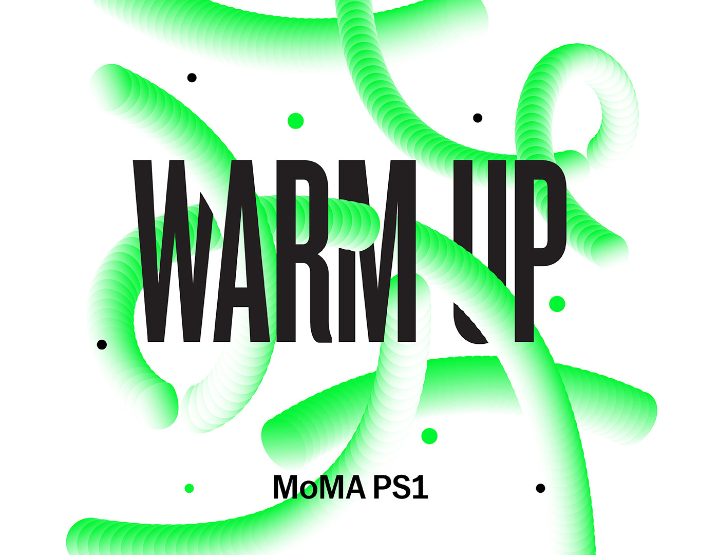 moma MoMa PS1 New York summer graphics typography   halftone Music Festival warm up poster