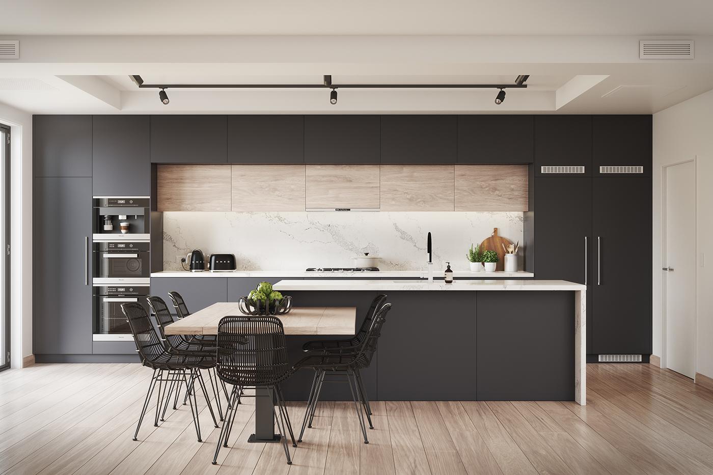 Blackberry kitchen visualisation on behance - Free kitchen design software australia ...