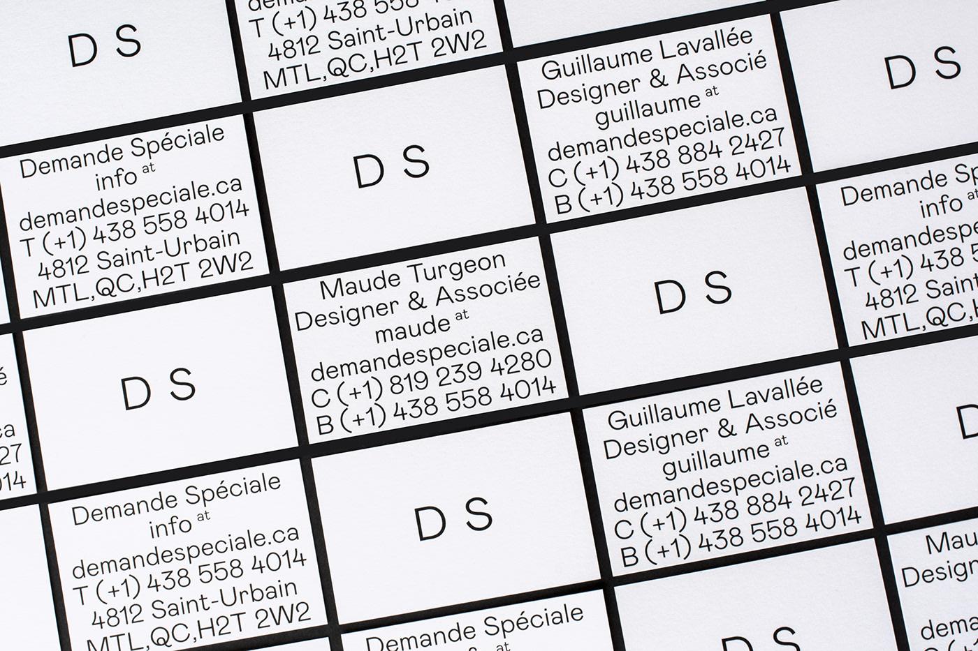 studio branding  minimal typography   demandespéciale