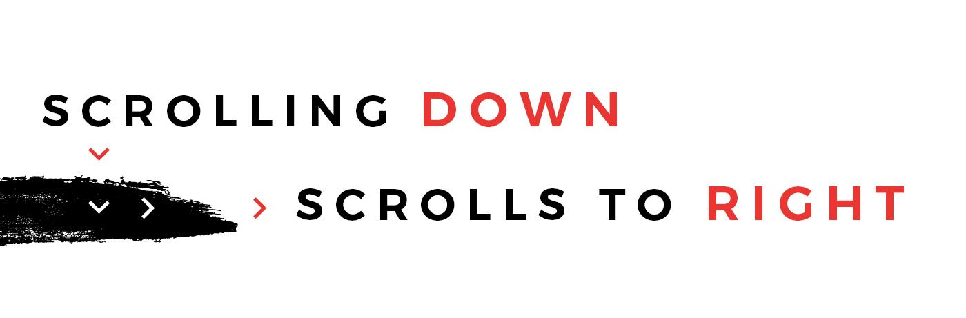Website Responsive clean modern horizontal scroll Scrolling fresh cool