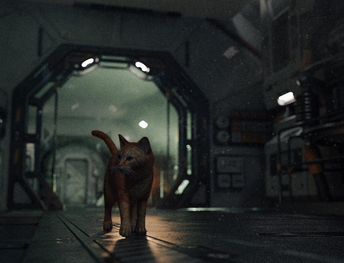 alien Cat daz3d horror Jonesy Nostromo sci-fi