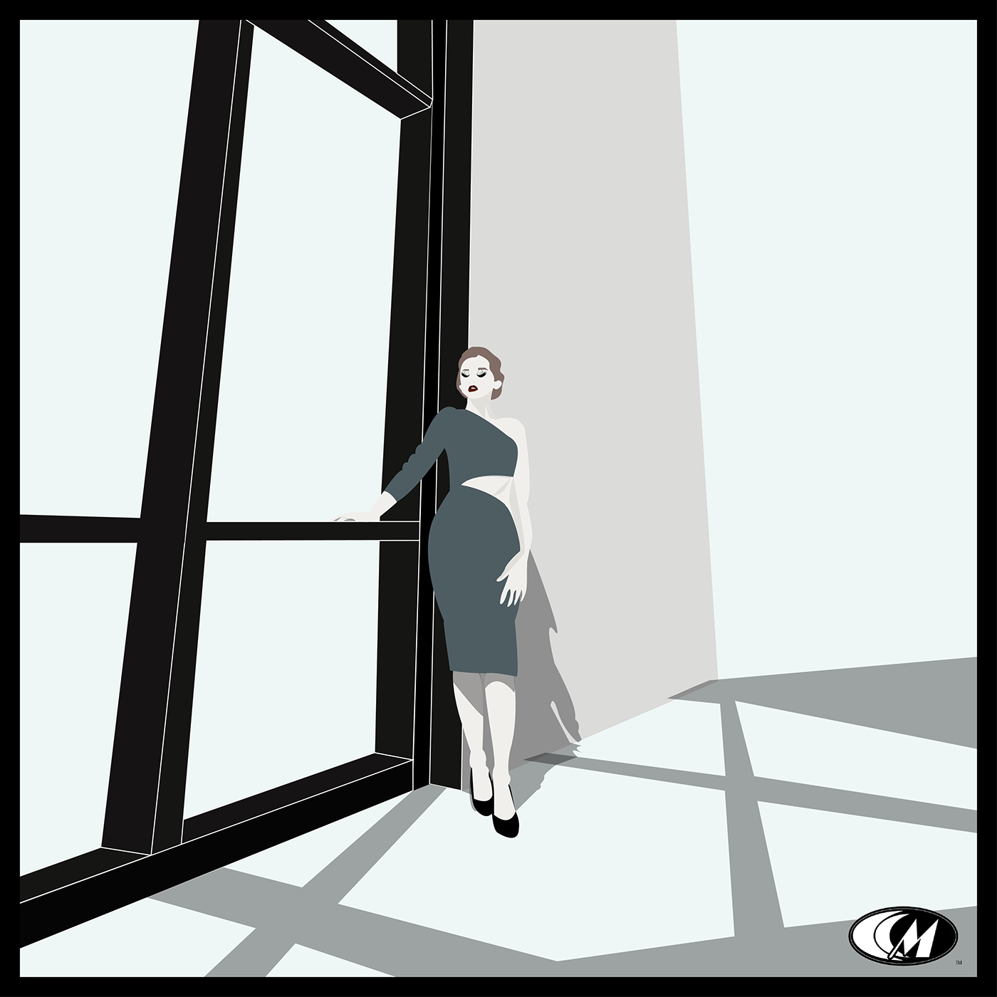 Fashion  graphic design  ILLUSTRATION  Shadows sophistication architecture