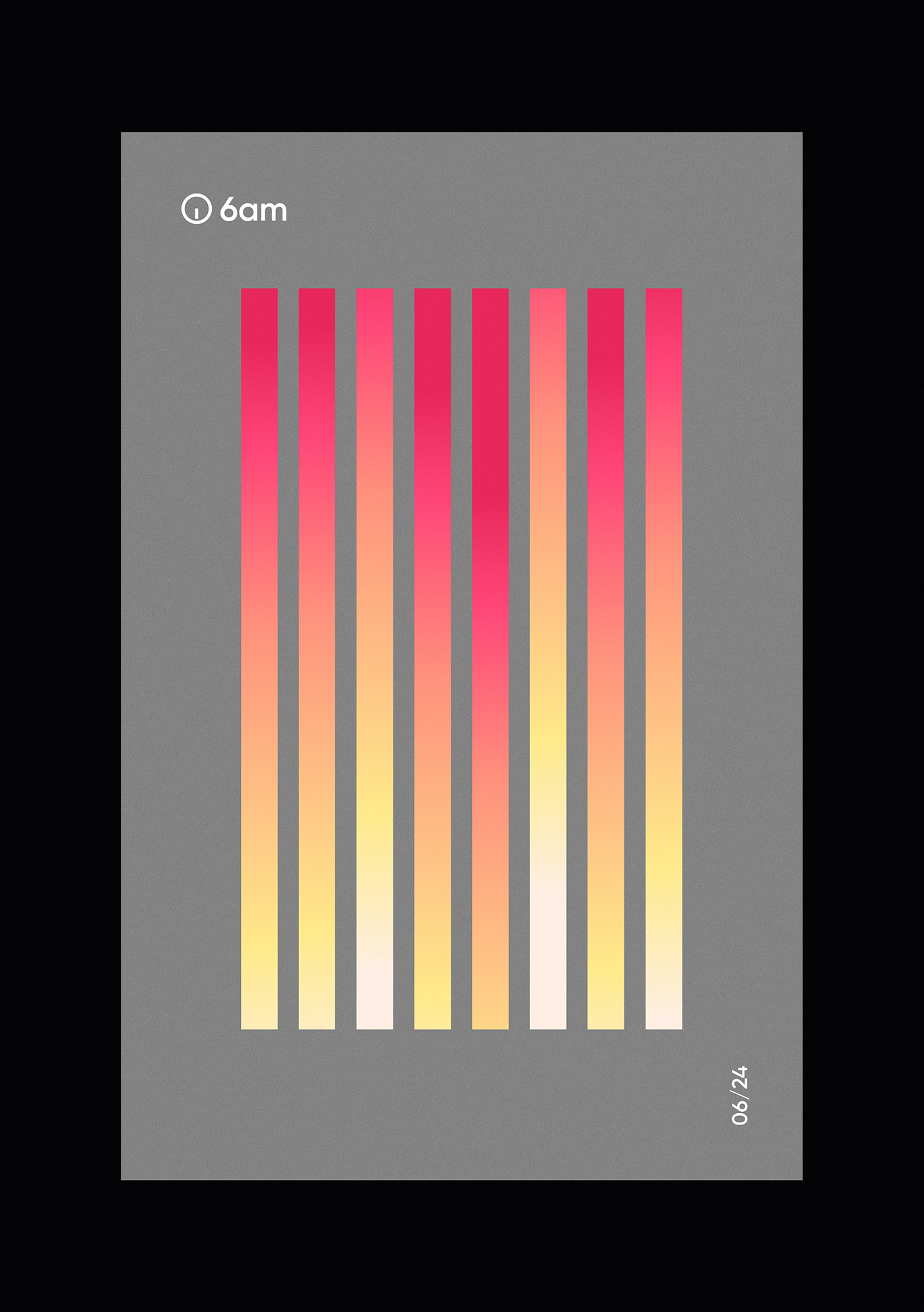gradient time colour color visual hours clock posters wallpaper vector