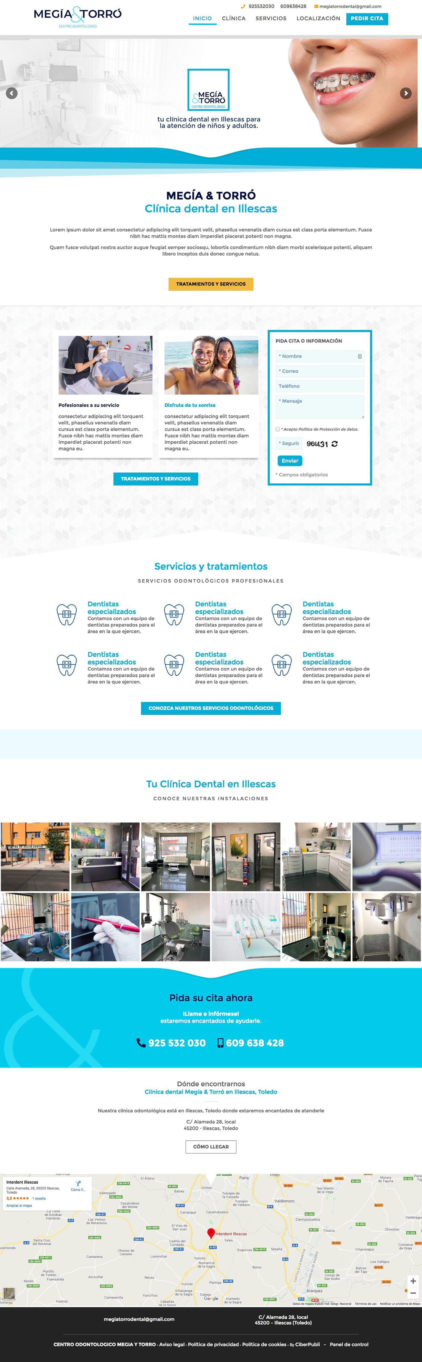 Clinica Dental  dental care Diseño web
