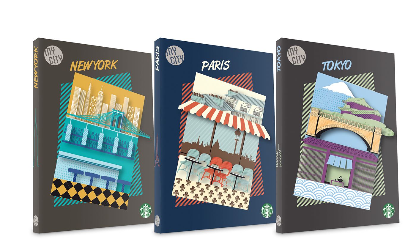 Book Cover Illustration Tips ~ Travel guide cover designs on behance