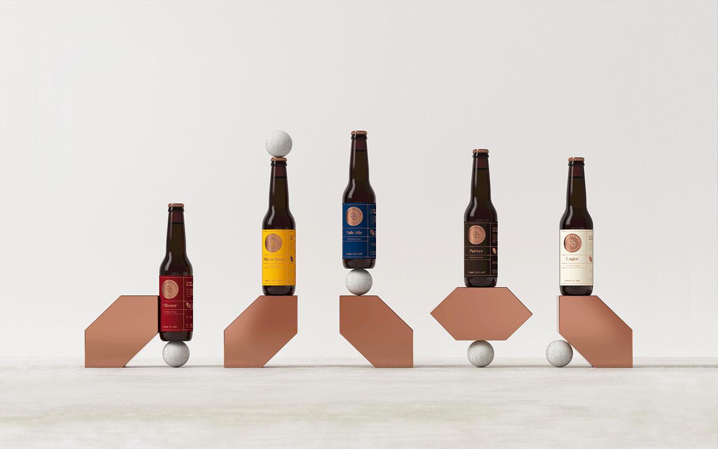 beer craftbeer craft labels foodtruck paleale lager porter wheatbeer pilsner Labeldesign packagingdesign newzealand queenstown queenstowndesign