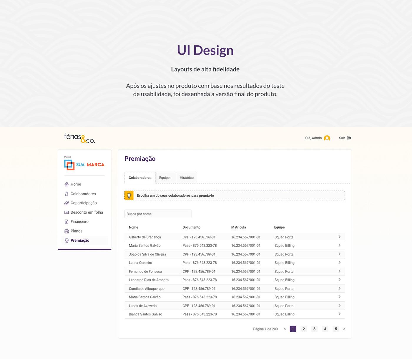 Layout UI ux uxcase Web
