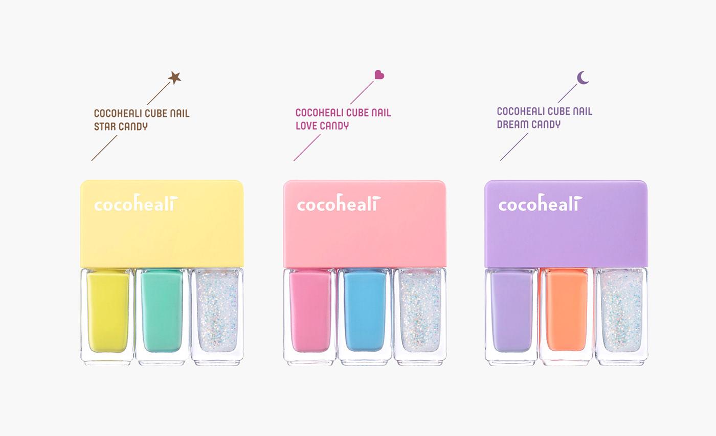 BI design brand identity design cocoheali kids cosmetics package design