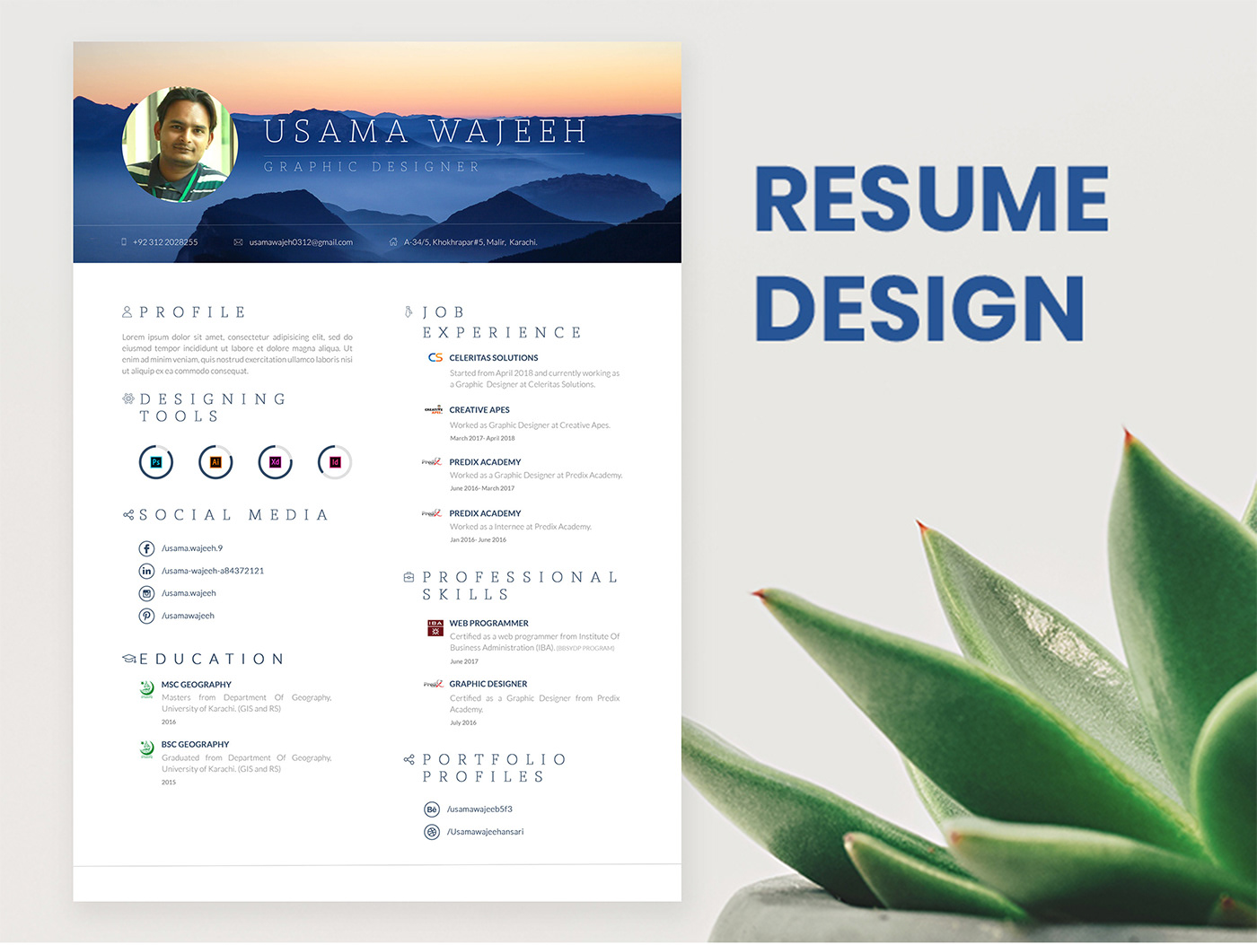 完美的23張履歷表設計欣賞