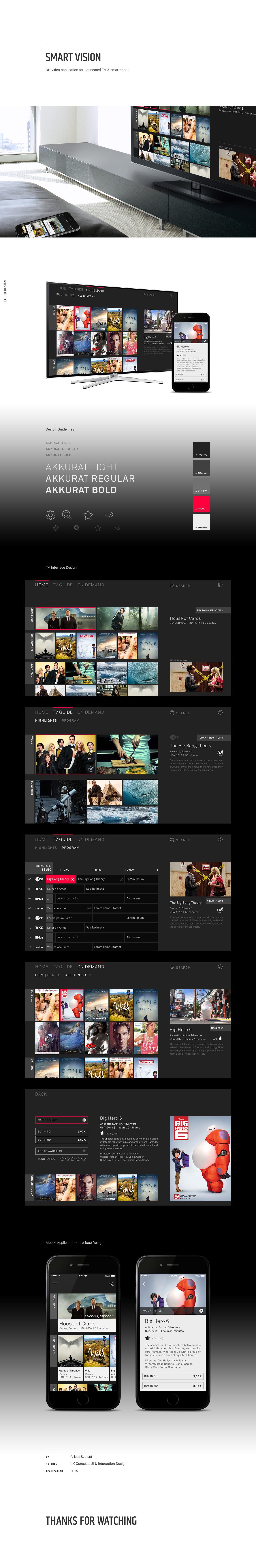 smart tv ui design UX design Interaction design  tv mobile product design  ux UI design