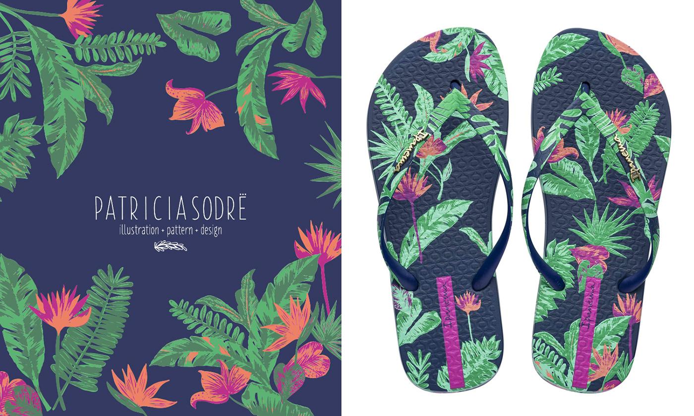 Copic,pattern,ipanema,pattern design ,Surface Pattern,tropical pattern,Tropical,floral,moodboard