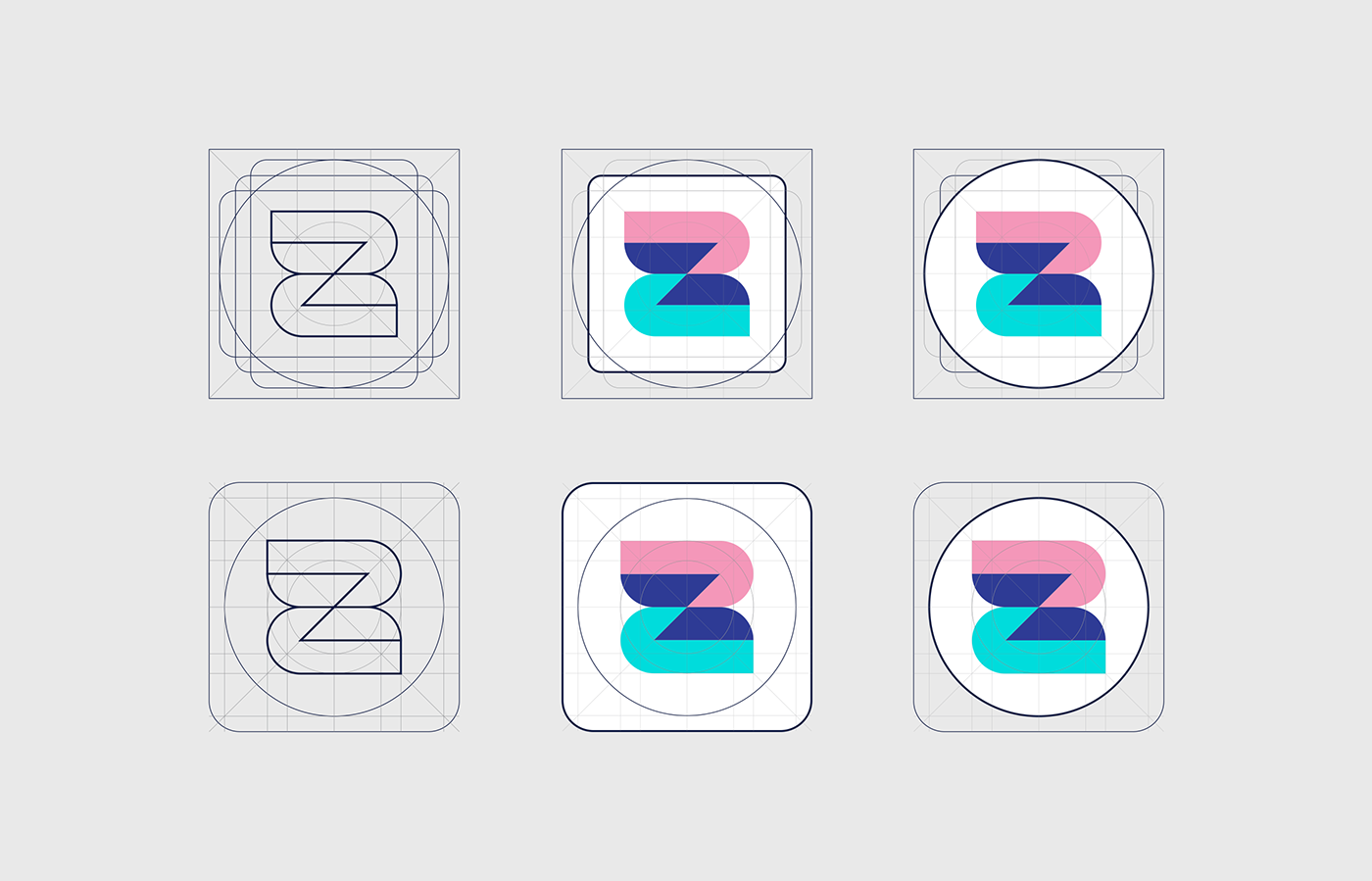 mobile app icon construction for android and iphone