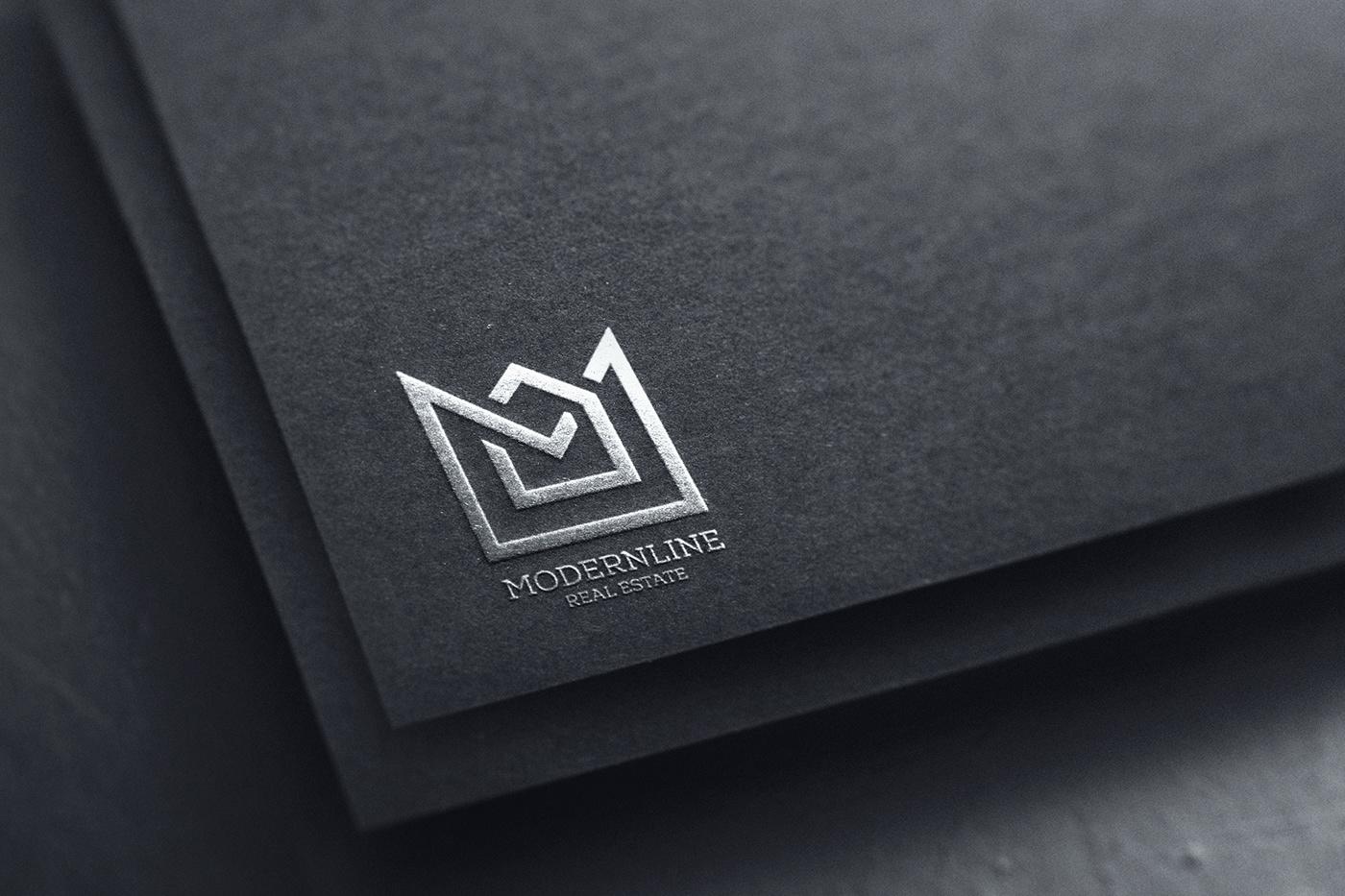 free logo mockup free mockup  freebie paper logo Silver Logo Mockup