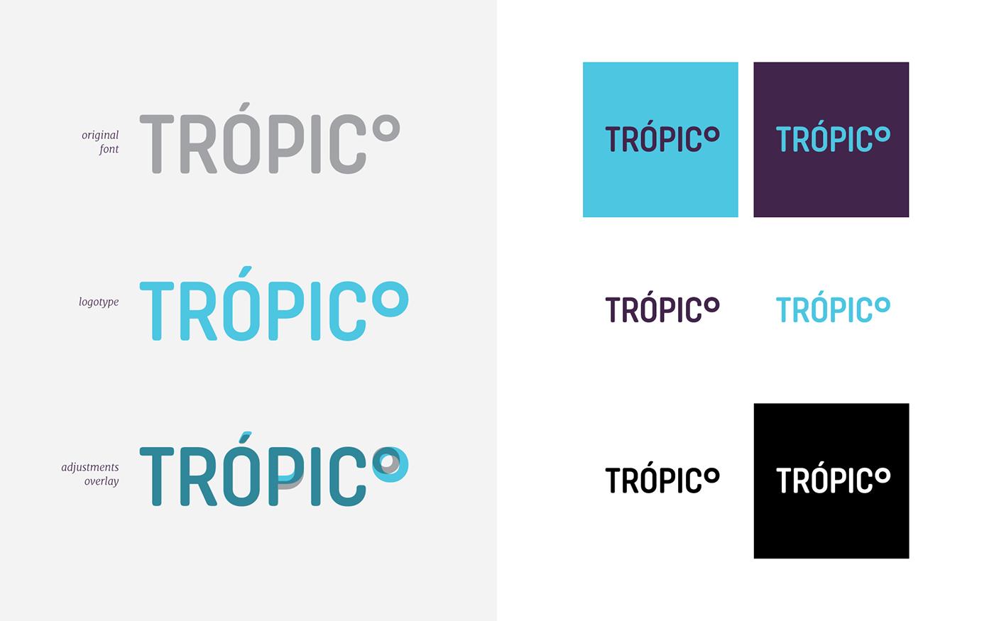 tropico Film   Video Production tropic wind vento pattern SKY graphic design  identity
