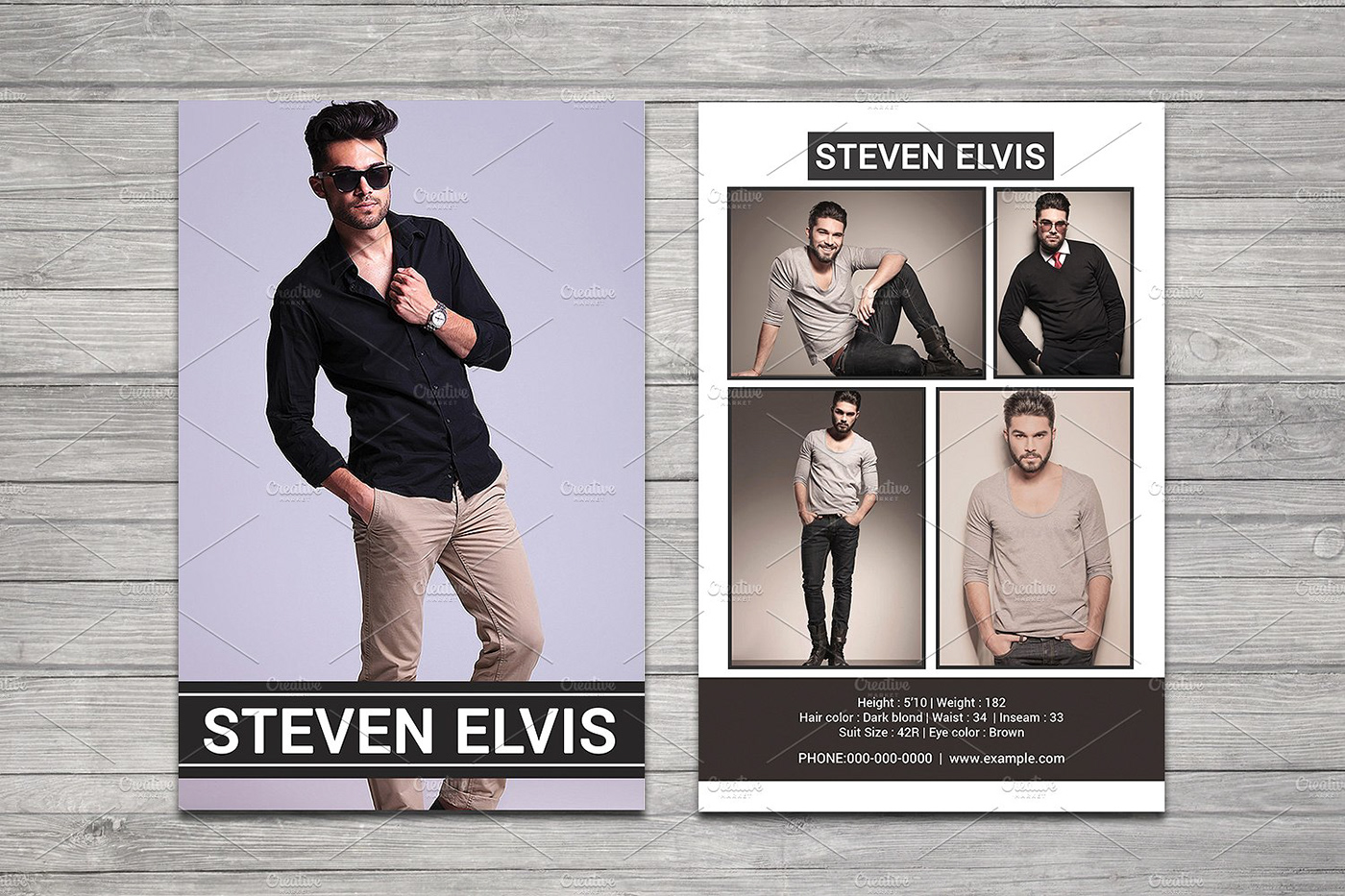 Model Comp Card on Behance Throughout Download Comp Card Template