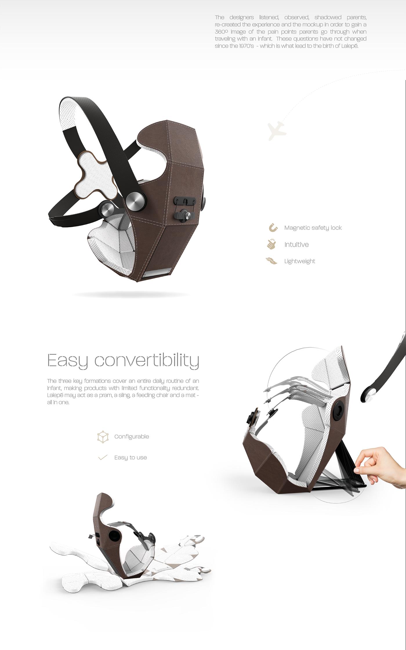 product design  baby carrier braun prize Lalepé