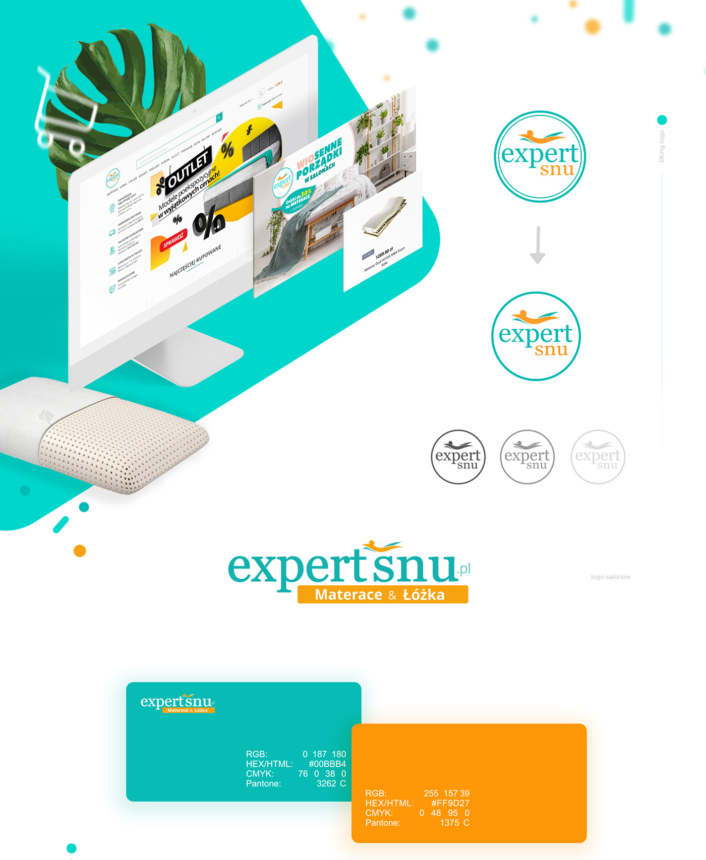 colors, logo, web