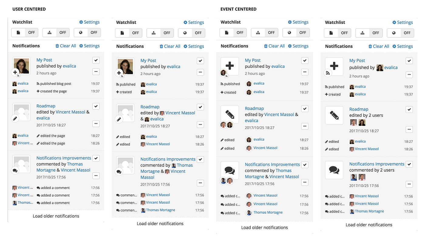 xwiki,css3,Platform,applications,Notifications