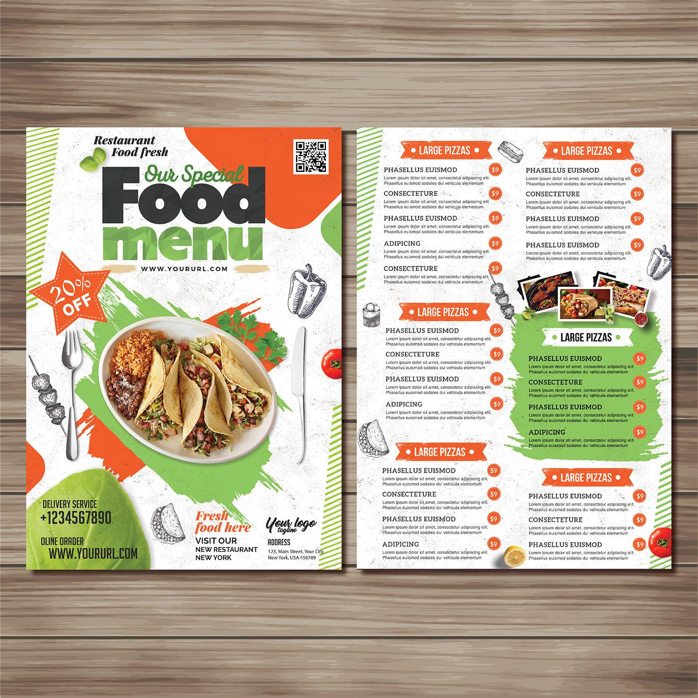有設計感的42張菜單封面欣賞
