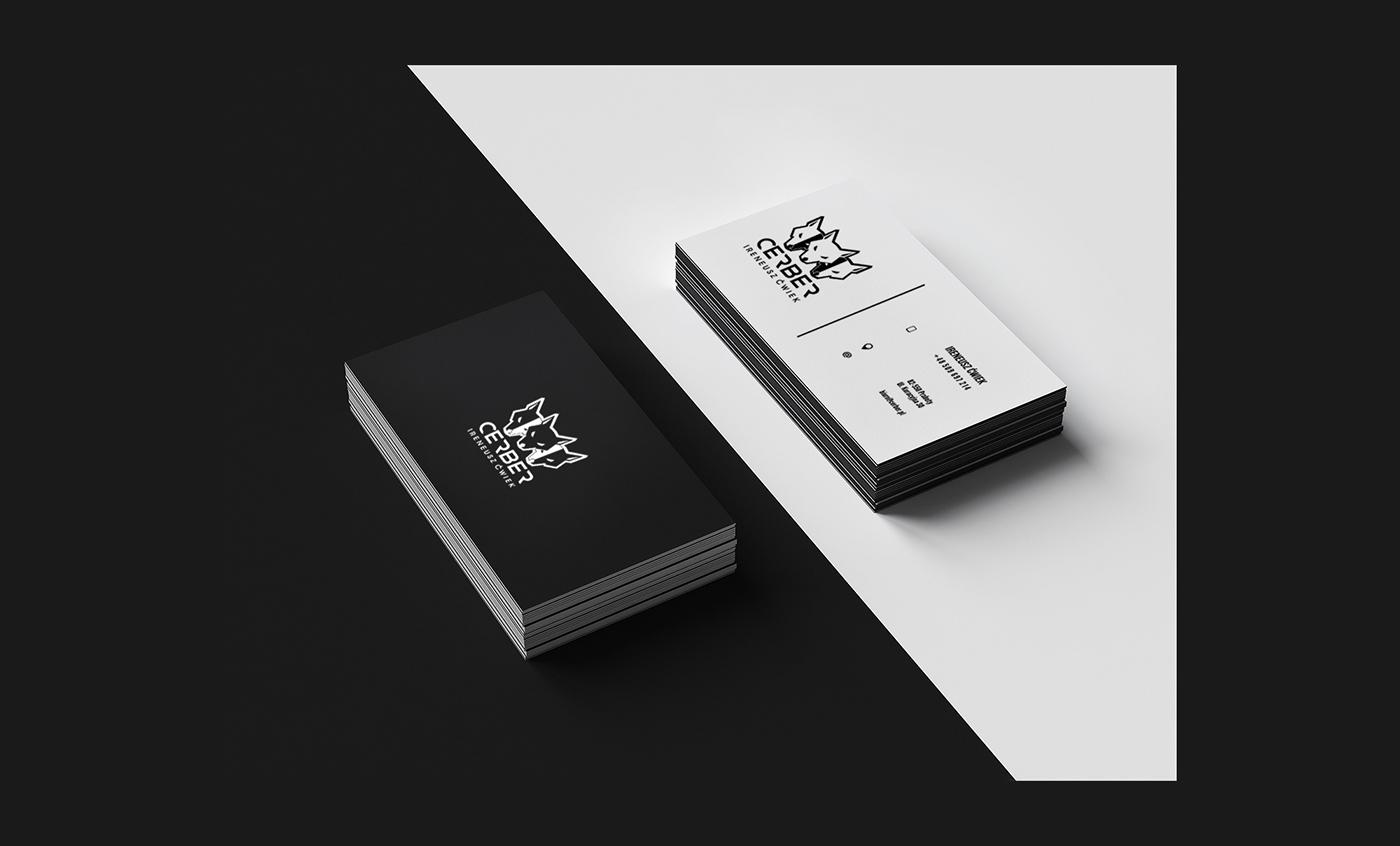 company logo firma design brand creative symbol mark cerber