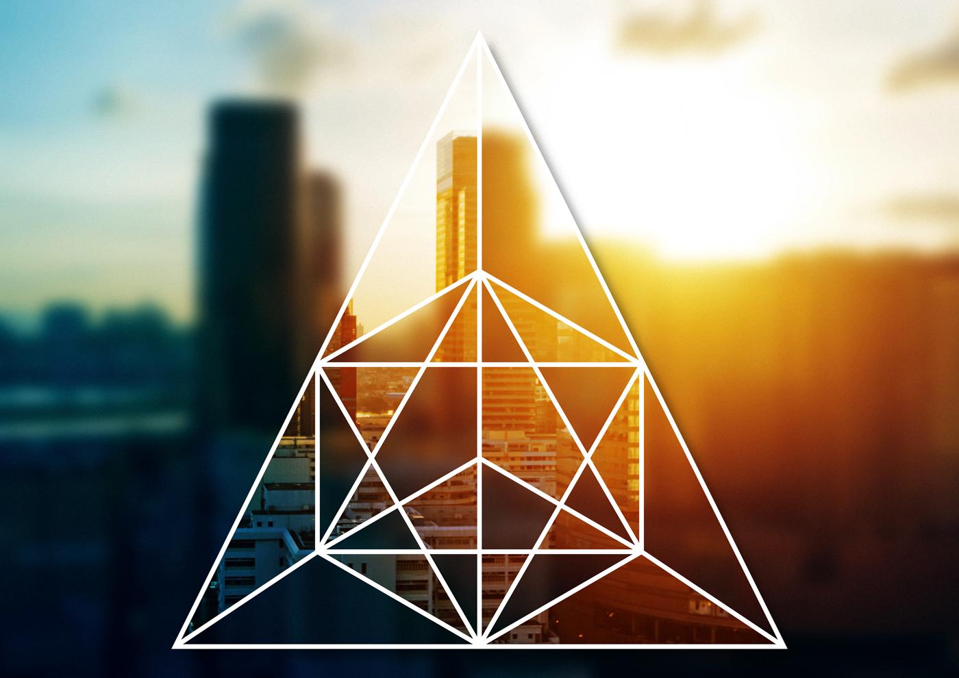 interlocking geometric shapes masks adobe stock template Photoshop cc New Document