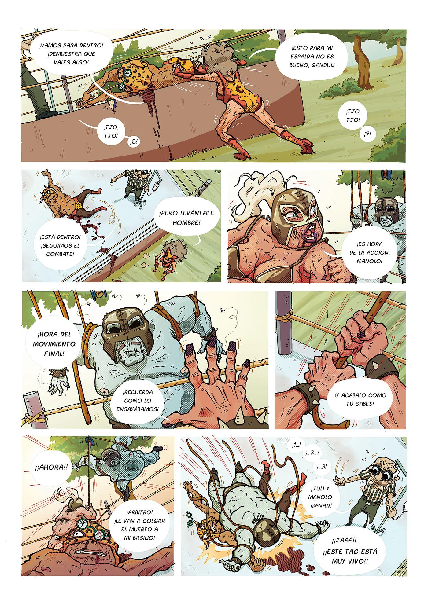comic mexico lucha libre digital