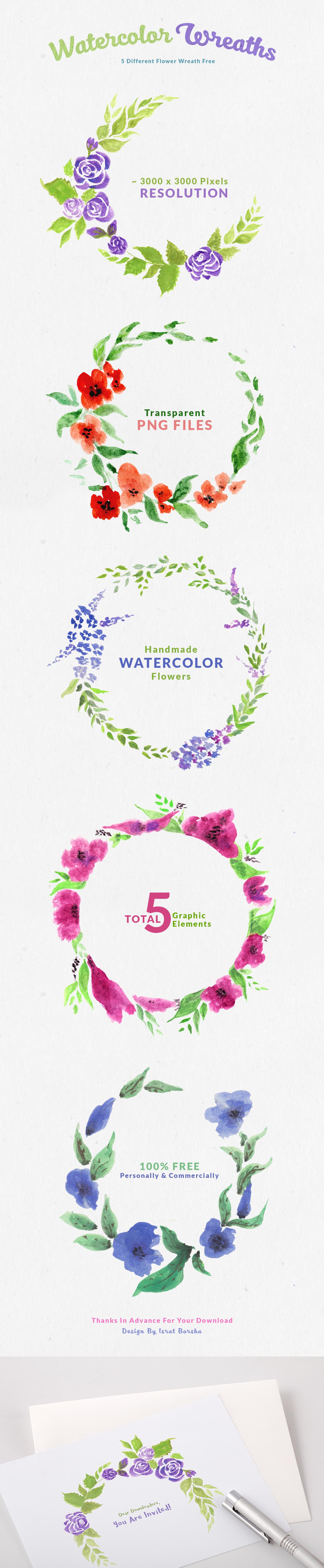 watercolor painting   freebie Pack flower wreath flower wreath FLOWER PAINTING graphic elements Transparent png
