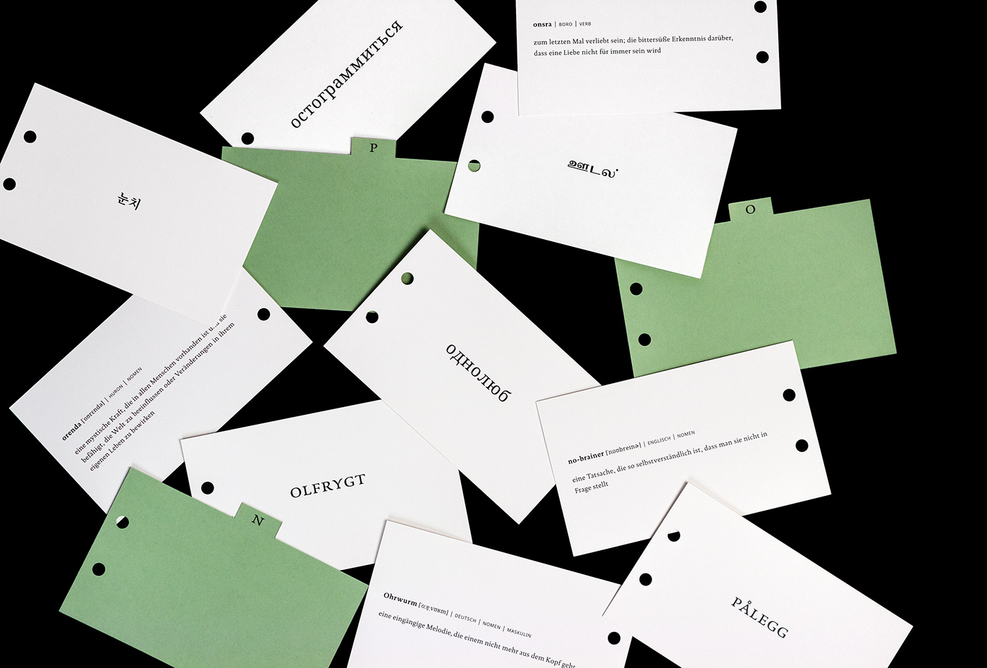 Cards about Untranslatability