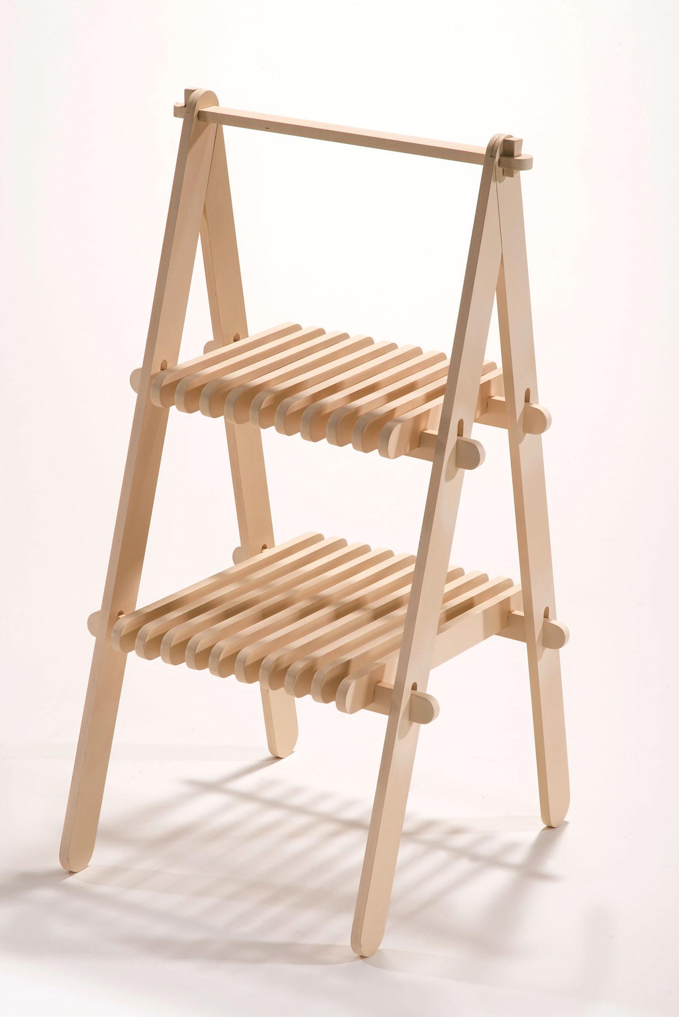 Strange Sophomore Spring Cnc Plywood Step Stool On Behance Ibusinesslaw Wood Chair Design Ideas Ibusinesslaworg
