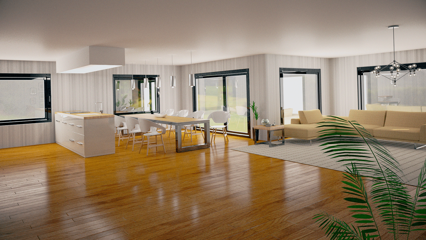 modern home architecture videohive envato Interior house design wedding Invitation