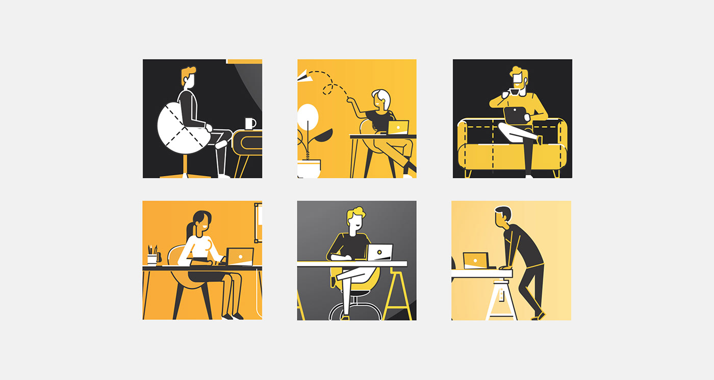 vector graphic people business poster print