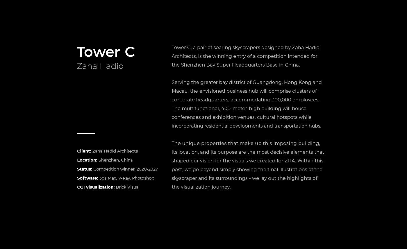 architecture archviz Render Vizualization 3D 3dsmax CGI tower vray workflow