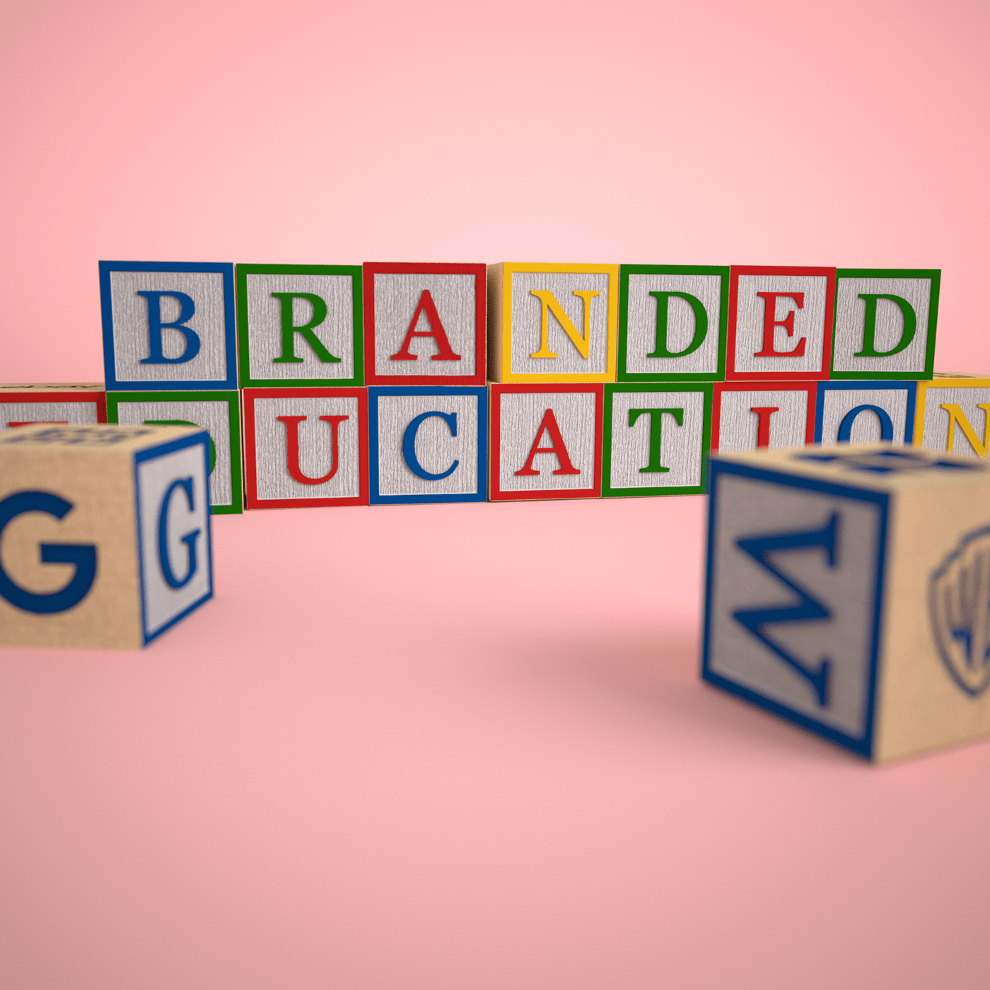 bran c4d childhood consumerism cube design editorial Education social toys