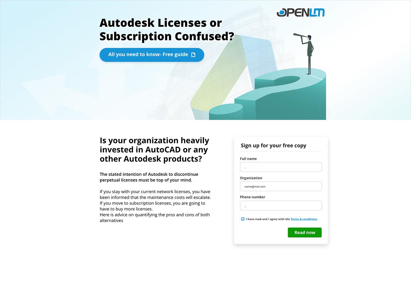 Adobe XD landin page ux/ui design